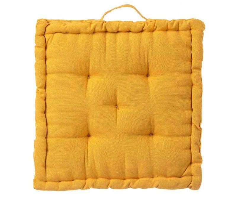 Възглавница за под Loving Colours Yellow 45x45 см