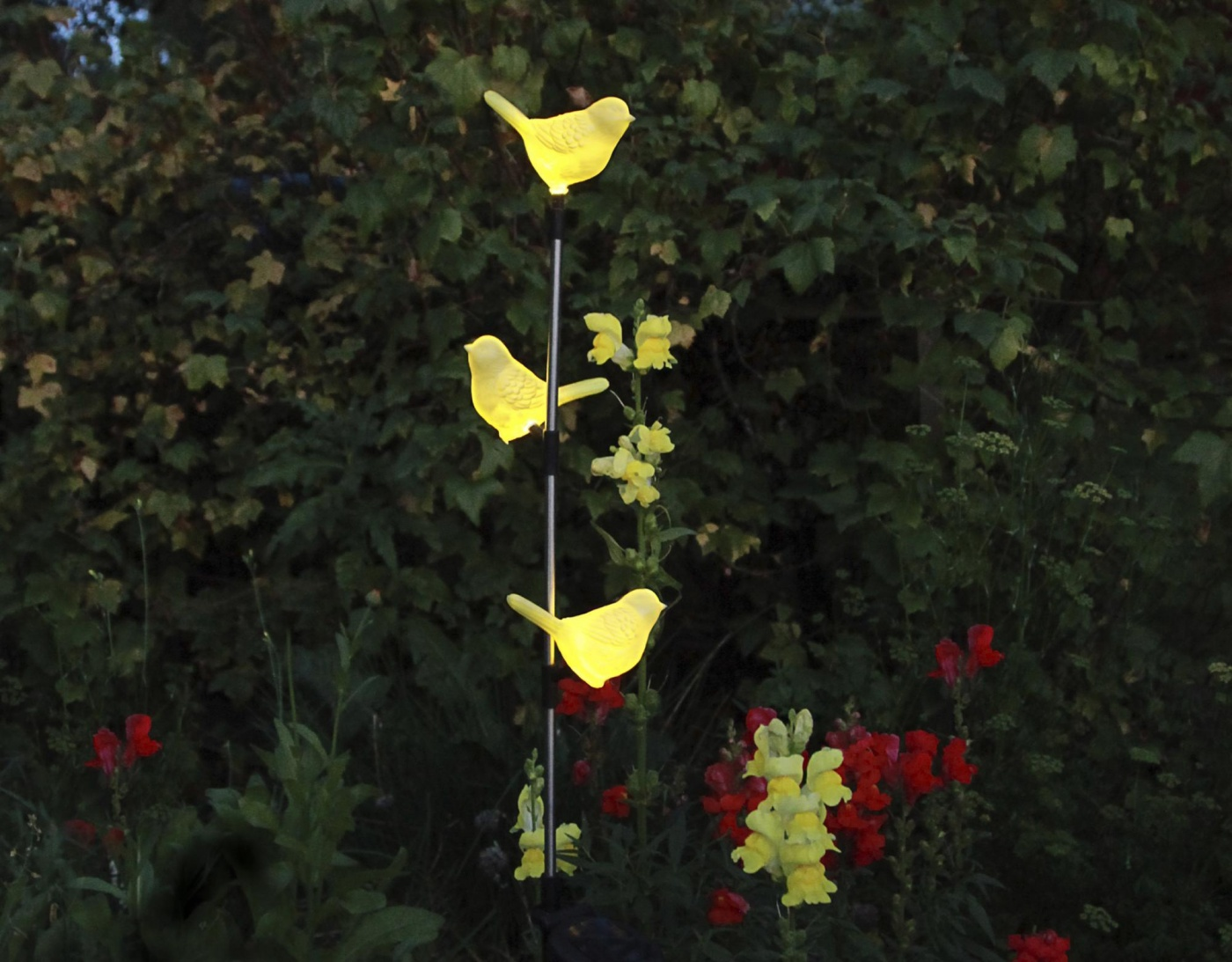Lampa solara Birds Yellow