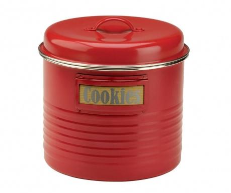 Recipient cu capac Vintage Kitchen Red