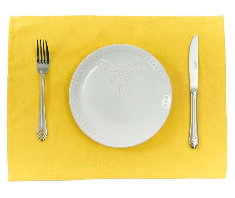 Set 2 individualuri Plane Yellow 33x45 cm