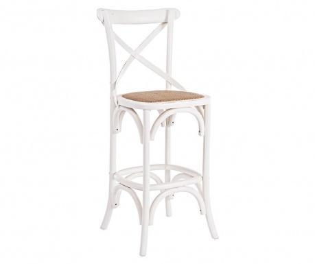 Barová stolička Cross White