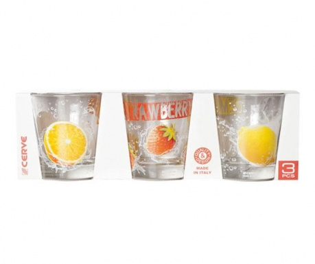 Set 3 čaše Nadia Tonic 250 ml