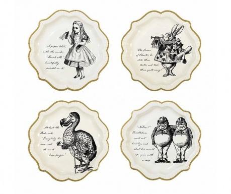 Set 12 tanjura za jednokratno korištenje Lost Alice