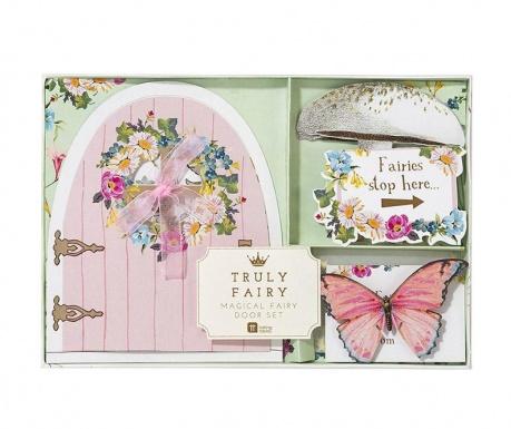 Σετ 3 διακοσμητικά για το τραπέζι και 3 ευχετήριες κάρτες με αξεσουάρ Fairy Door