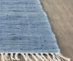 Covor tip pres Saltillo Ivory Dark Blue 121x182 cm