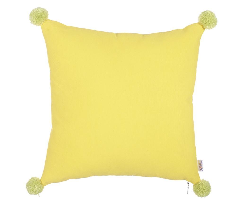 Obliečka na vankúš Clover Yellow and Green 41x41 cm