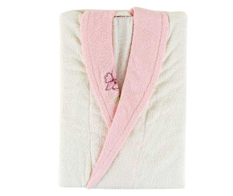 Ženski kopalni plašč Daily Ecru Pink S/M