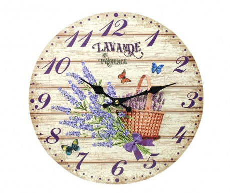 Zegar ścienny Lavender Bouquet