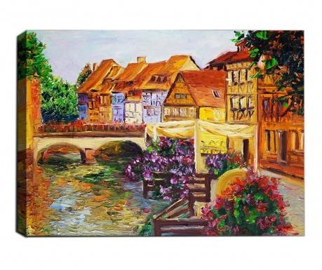 Obraz 3D Small Town 50x70  cm