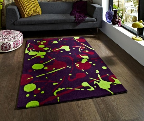 Dywan Hong Kong Splash Purple Green 80x150 cm