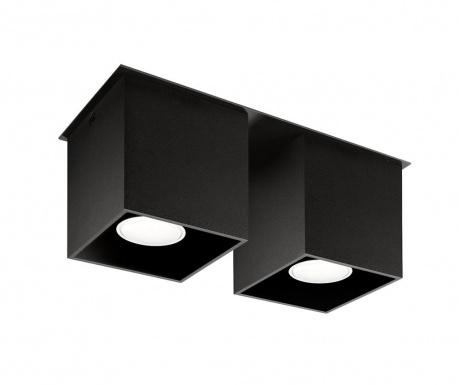 Stropná lampa Geo Black