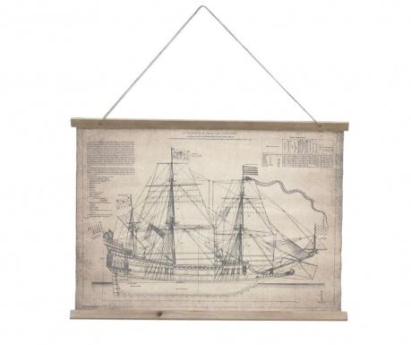 Стенна декорация Ship Sketch