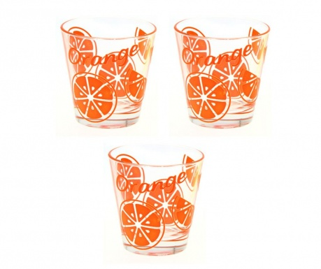 Set 3 čaše Gummy Orange 310 ml