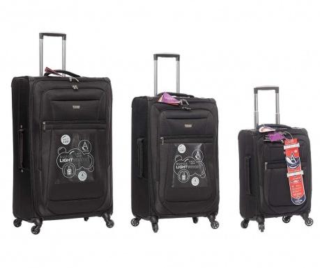 Sada 3 cestovních kufrů na kolečkách Canterbury
