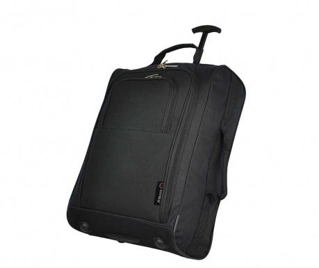 Cestovní kufr na kolečkách Valencia Black 42 L
