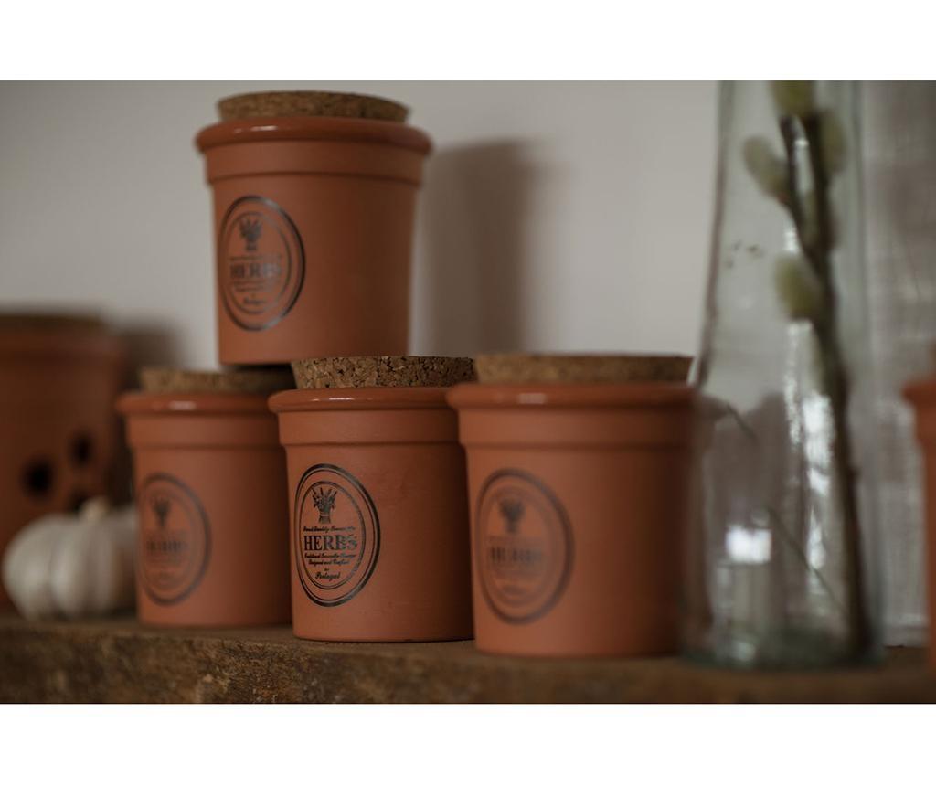 Recipient cu capac pentru ierburi aromatice Porto