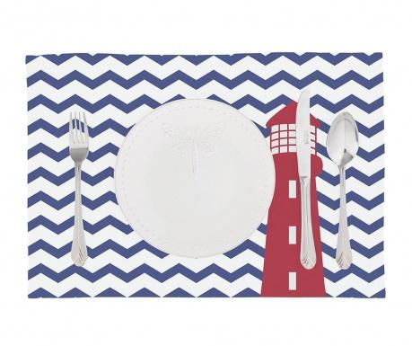 Комплект 2 подложки за хранене Zig Zag Blue Lighthouse 33x45 см