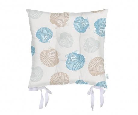 Възглавница за сядане Seashells Blue 37x37 см