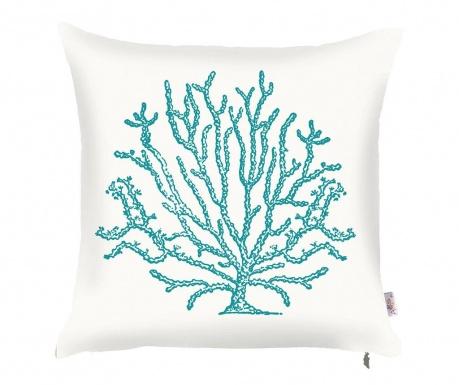 Калъфка за възглавница Coral Tall White Blue 43x43 см