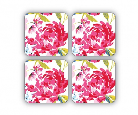 Floral Romance 4 db Poháralátét