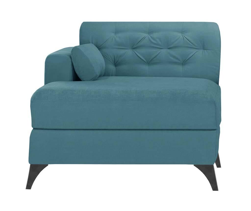 Lijeva ležaljka za dnevni boravak Vanity Turquoise