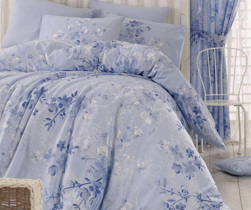 Lenjerie de pat Double Ranforce Elena Blue 200x220