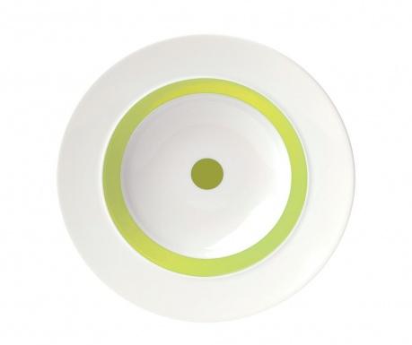 Hlboký tanier The Dot Green