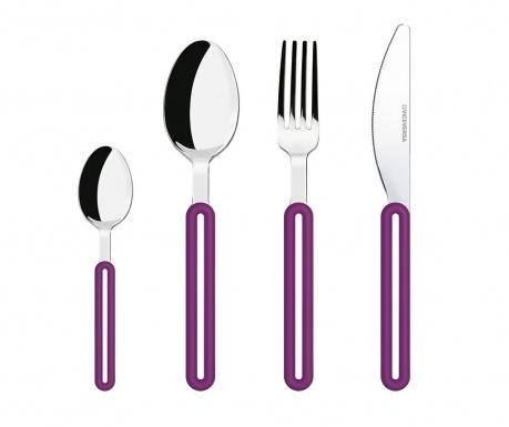 Σετ μαχαιροπήρουνα  4 τεμάχια Offset Purple