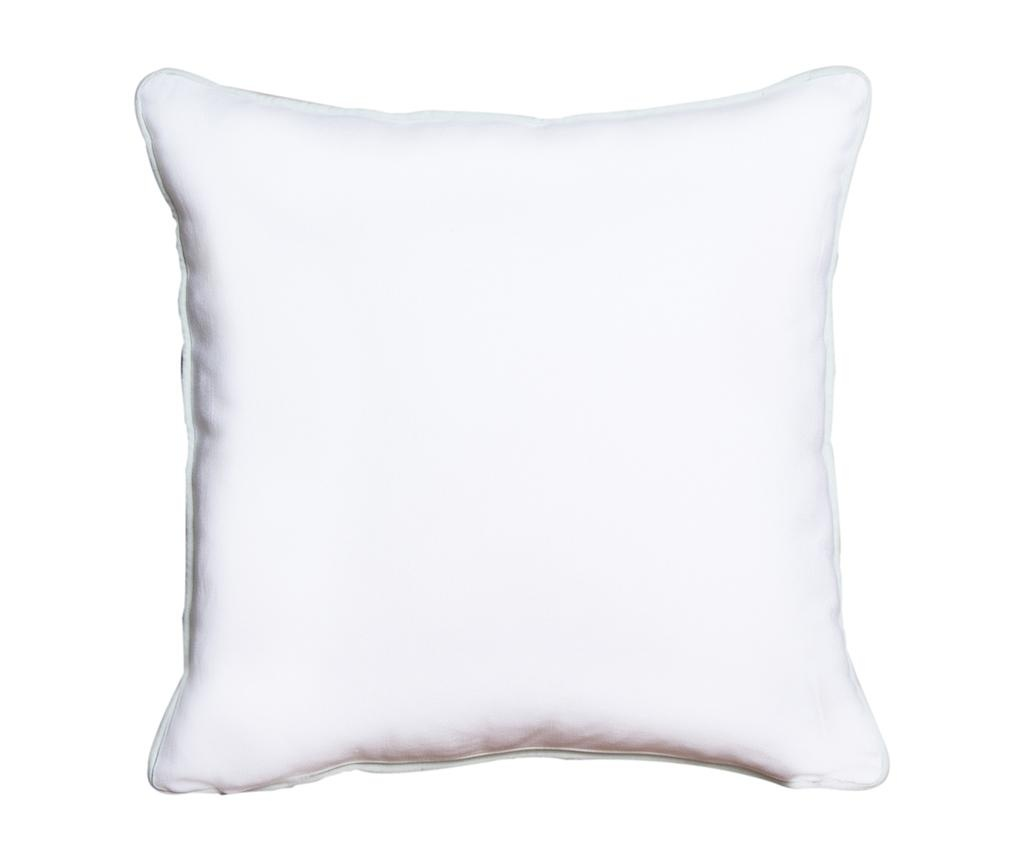 Perna decorativa Crissya Square White and Blue 45x45 cm