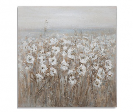 Flowery Field Festmény 80x80 cm