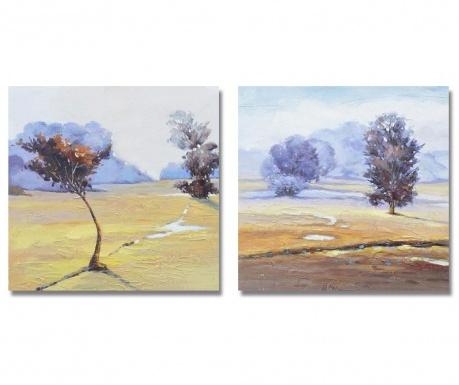 Landscape 2 db Festmény 60x60 cm