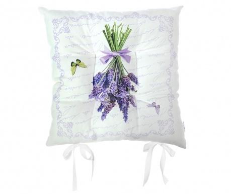 Vankúš na sedenie Butterfly & Lavender 37x37 cm
