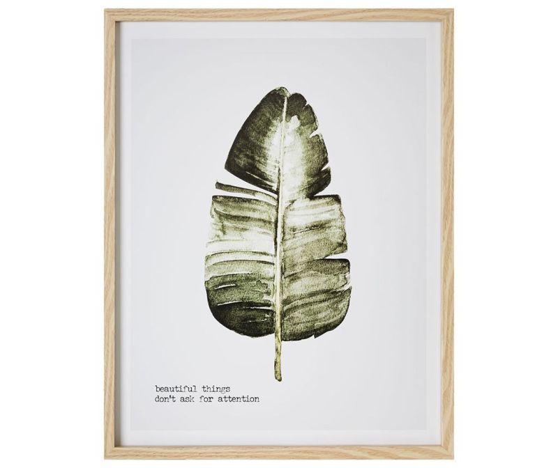 Tablou Beautiful Leaf 45x57 cm