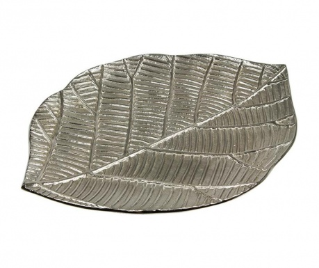Leaf Sheet Silver Dekoráció