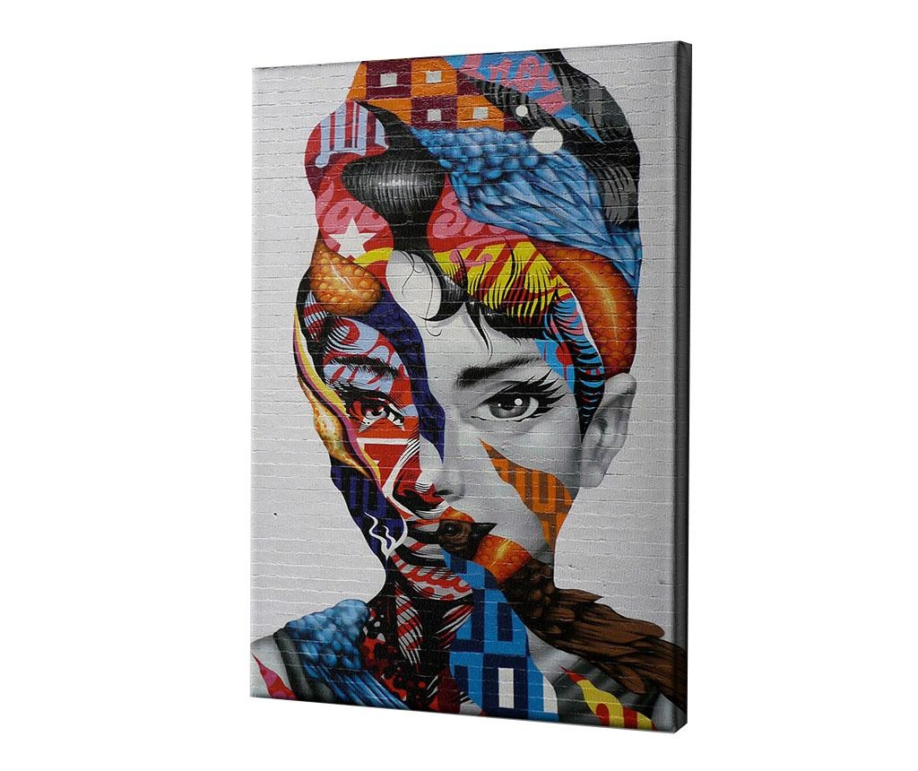 Slika Audrey of Mulberry by Tristan Eaton 60x90 cm