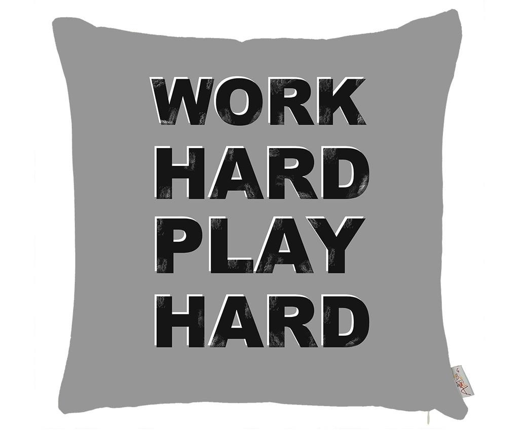 Fata de perna Work Hard Play Hard 43x43 cm