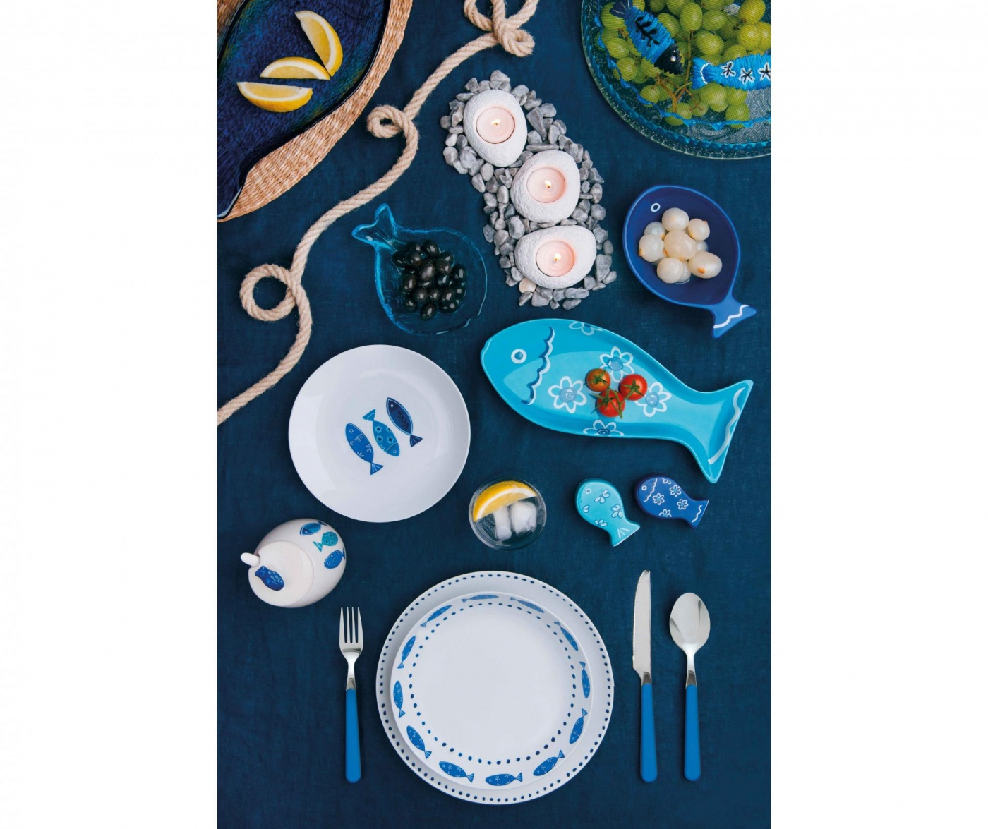 18 delni namizni set Ocean Blue