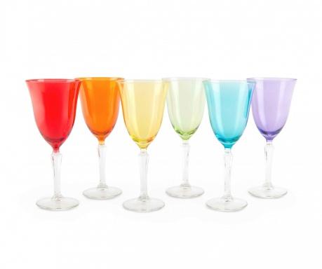 Sada 6 pohárov na stopke Crystal Color 320 ml