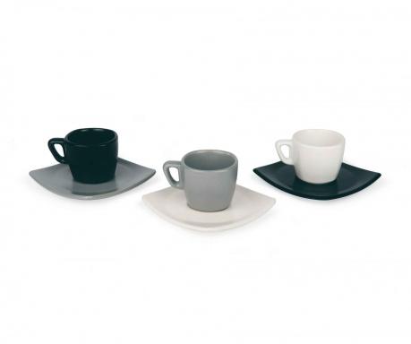 Сервиз 6 чашки и 6 чинийки за кафе Roberta