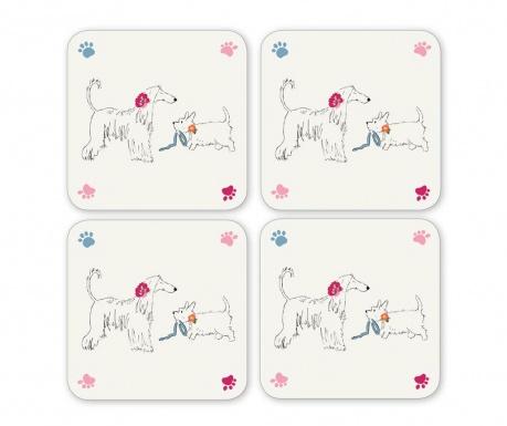 Dapper Dogs 4 db Poháralátét