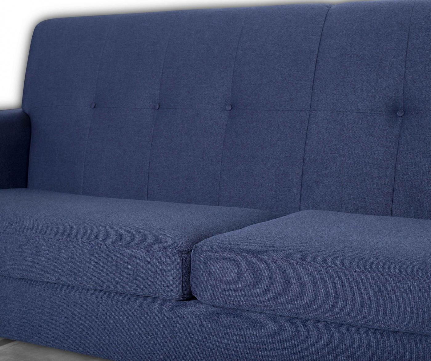 Canapea 3 locuri Retro Zander Blue