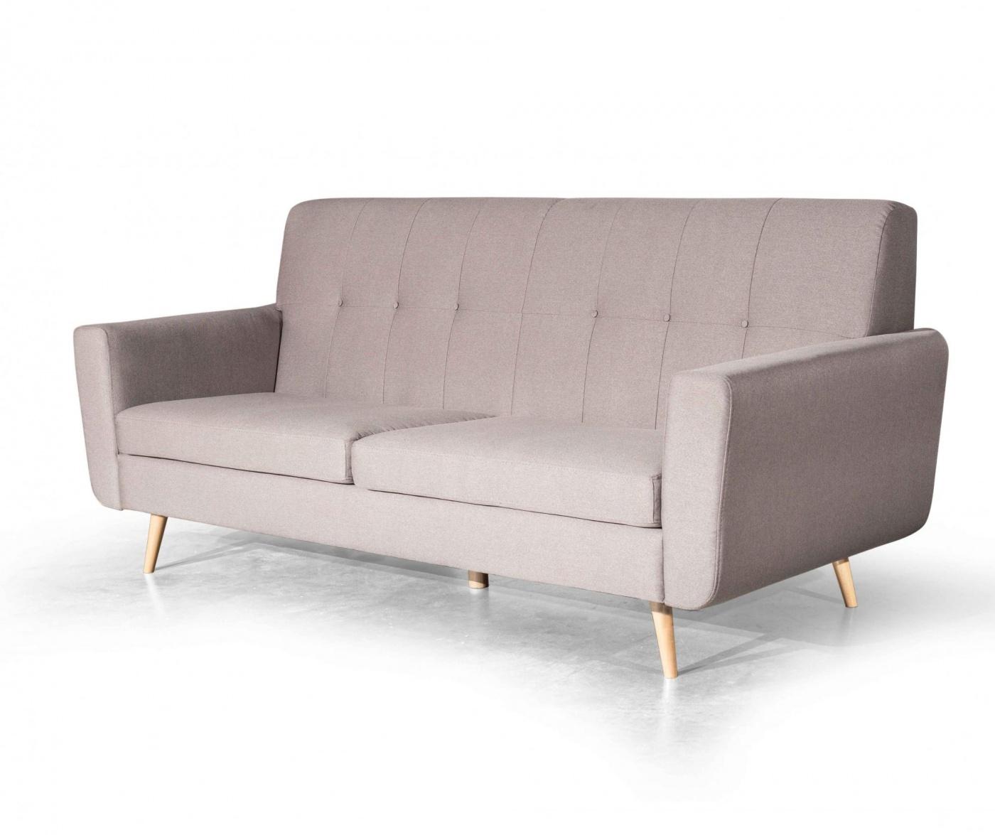 Canapea 3 locuri Retro Zander Light Grey