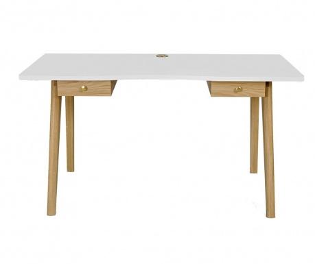 Písací stôl Nice White and Oak