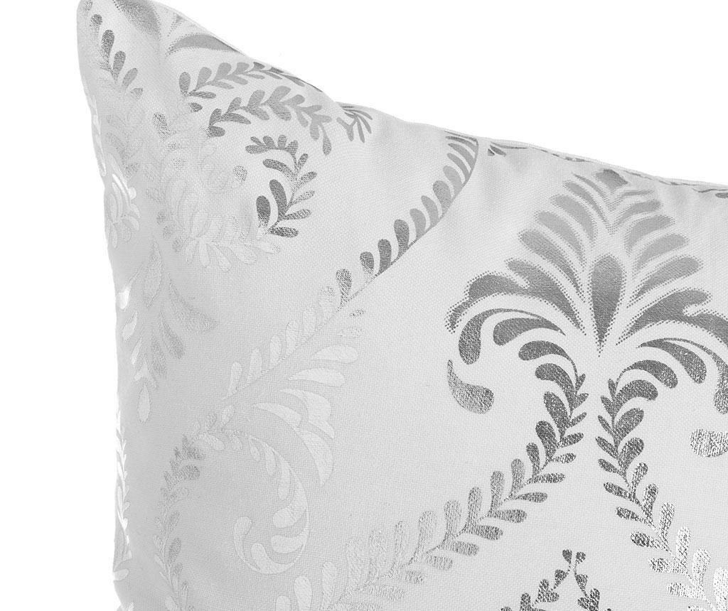 Baroque White Silver Díszpárna 45x45 cm