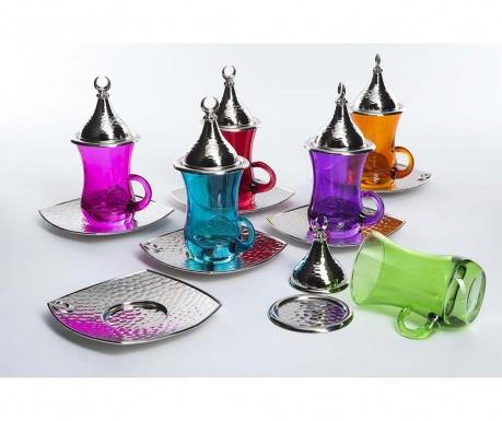 Σετ για τσάι 18 τεμάχια Evrim Colors