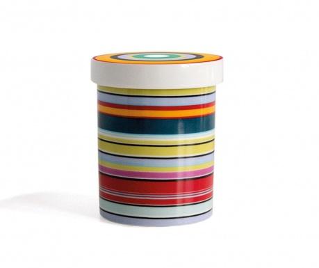 Colour Stripes Tároló fedővel