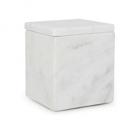 Κουτί με καπάκι Cubic White