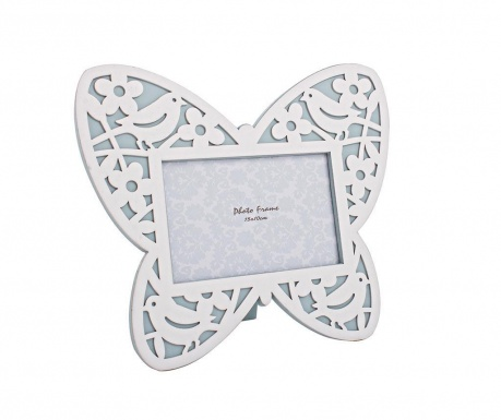 Fotorámik Butterfly White