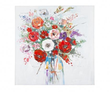 Obraz Village Flowers 80x80 cm