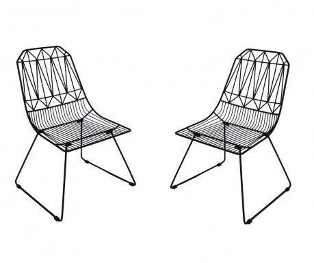 Zestaw 2 krzeseł ogrodowych Poltron